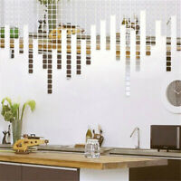 200x Self-adhesive Mirror Tile 3D Wall Sticker Decal Mosaic Room Decoration