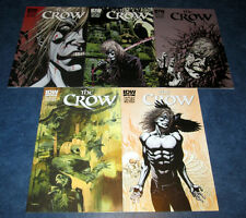 THE CROW death and rebirth 1 2 3 4 5 A set IDW COMIC 2012 1st print JAMES O'BARR