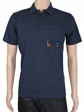 NEW Duck & Cover Mens S Blue Short Sleeve Polo Shirt Top