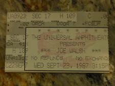 Joe Walsh 1987 Concert Stub at Universal Amphitheater, Ca