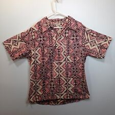 Genuine Hawaiian Aloha Shirt - Made In Hawaii - XL - Reverse print Pull over