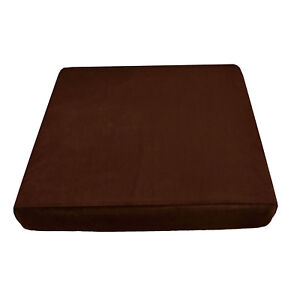Mf49t Friar Brown Thick Microfiber Velvet 3D Box Seat Cushion Cover Custom size