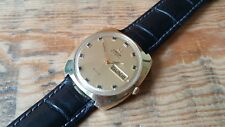 GENT'S VINTAGE GOLD PLATED DAY DATE OMEGA DE VILLE AUTOMATIC WRIST WATCH