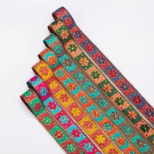 Neotrims Daisy Floral India Traje cinta Sari recorte Cinta Oro Metálico 15mm