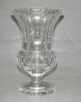 Große Art-Deco Glasvase,mundgeblasen,Kristallglas,Flächenschliff,25,0 cm, 2,86kg
