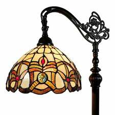 Tiffany Style Floor Lamp Arched 62in Tall Stained Glass Reading