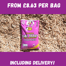 CJs Premium Wood Pellet Cat Litter - 1 x 30L bag