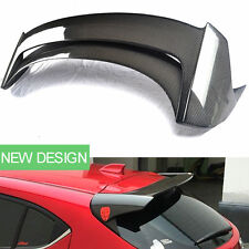 Carbon Fiber Car Rear Tail Roof Spoiler Wing Hatchback Black For Mazda 3 Axela