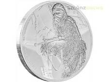 2 $ Dollar Star Wars Krieg der Sterne Chewbacca Niue Island 1oz Silber 2017