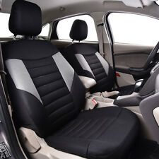 Universal Car Seat Covers Black Grey Two Front Airbag Compatible For Car TRUCK