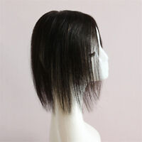 Mono Women Clip In Real Human Hair Topper Hairpiece for Cover Grey/loss hair