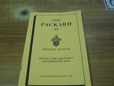 Packard Six 1938, Owners Manual, Very Nice!