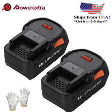 2 Pack 18V 4.0Ah Hyper Lithium-Ion Battery Pack For RIDGID R840085 R840087