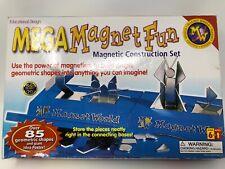 Mega Magnet World Fun Educational Magnetic Construction Set With Case Education