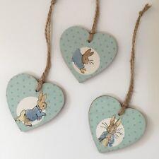 Peter Rabbit Handmade Wooden Hanging Nursery Decorations 3 Pack