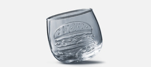 McDonalds 50 Years of Maccas Wobbling Glass - Promotional Items
