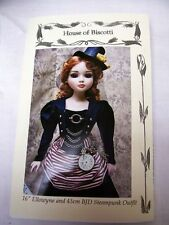 "16"" Tonner Ellowyne Victorian ""Steampunk"" PATTERN  Bustier, 2 Outfits,"