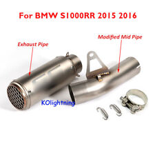 Slip on Motorcycle Exhaust Muffler Tips Mid Link Pipe for BMW S1000RR 2015 2016