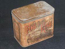 Antique Fog King Plug Cut Tobacco Tin Brown Bros. Winston NC 1880's Paper Label