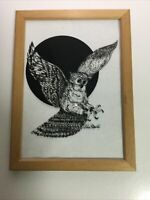 Rare Limited Edition Signed OWL 🦉 On glass With Marker by Robert Donato 1976 ?