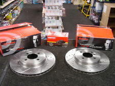 FOR MINI ONE DIESEL COOPER S R56 BRAKE DISC BREMBO CROSS DRILLED GROOVED AND PAD