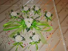Tischdekoration 11 tlg. grün Herz Tischdeko Hochzeit Kommunion Taufe Verlobung +