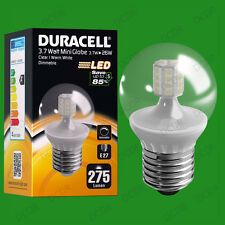 4x 3.7W Dimmable Duracell LED Clear Mini Globe Instant On Light Bulb ES E27 Lamp
