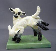 """Vintage DORIS LINDNER Royal Worcester """"May-Time"""" Figurine #3123 Frolicking Lambs"""
