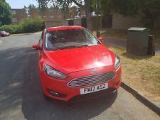Ford Focus, 2017 (17) Red Hatchback, Manual Diesel