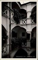 Wasserburg am Inn Oberbayern s/w AK ~1940 Partie im Apotheker Hof ungelaufen