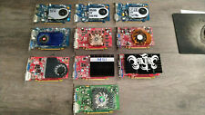 LOT N°2 DE 10 CARTES GRAPHIQUES ANCIENNES GENERATIONS, 10 X 512 MO PCI-EX