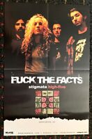 FUCK THE FACTS COLDWORKER 2sided 11x17promo poster DEATH METAL grindcore Relapse