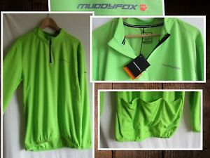 Muddy Fox Long Sleeve Breathable Loose Fit Reflective Cycle Jersey 2XL Green NEW