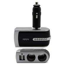 New listing Black Auto Car Cigarette Lighter Socket Splitter Dc 12/24V Charger Adapter S6