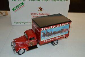 DANBURY MINT 1937 CHEVROLET 1930'S BUDWEISER CHRISTMAS TRUCK BOXED