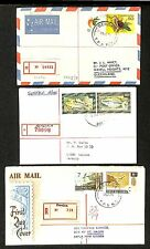 PAPUA NEW GUINEA 1974/95   3 x REG.CV = BEREINA =  DESTINATION !!  VF
