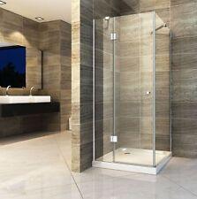NORMA 80x80x195cm Glas Duschkabine + Duschtasse Dusche Duschwand Duschabtrennung