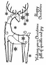 Woodware Clear Singles Magic Stamp Christmas 2017 - Snowflake Reindeer FRS655