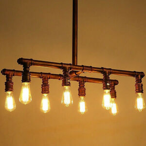 Industrial Vintage Style Pendant Light Chandeliers Steampunk Pipe Lamp E27 Bulb