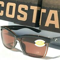 NEW* COSTA Del Mar ANAA Black POLARIZED 580P Brown lens Womens Sunglass ANA 107