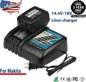 Charger For Makita Battery 18Volt 6.0Ah LXT Lithium ion BL1860 BL1830 BL1850 US