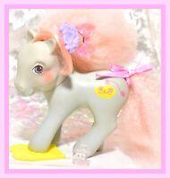 ❤️My Little Pony MLP G1 Vtg Dainty Dahlia Perfume Puff Original Comb Barrette❤️