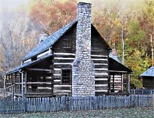 Photograph Original Postcard, All Occasions, Blank, Log Cabin