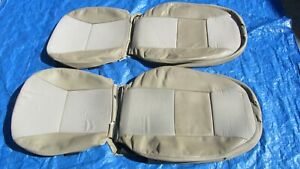 99-03 Saab 9-3 OEM Convertible Tan Driver & Passenger Sides Leather Seat Covers