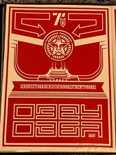 Shepard Fairey Signed 2001 Obey Chinese Banner #1 **21/200**