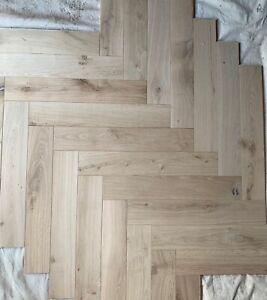 Engineered Oak Herringbone unfinished 120x700mm £37.00 per sqm