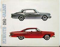 1961 Plymouth Fury Valiant Belvedere Savoy Suburban Color Sales Brochure Orig