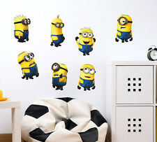 57000201 | Wall Stickers Minions With Several Expressions Kids Room