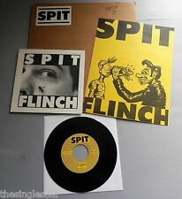 "Spit - Flinch USA 1988 Libido 7"" Single with Poster & Stickered Card"
