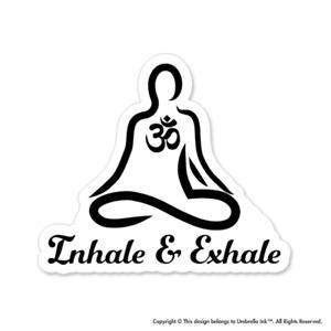 Inhale And Exhale Yoga Hippie Sticker Car Bumper Decals Scrapbooking